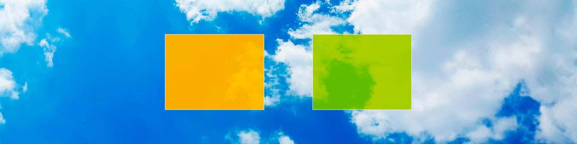 Contact energieblokjes in wolkenlucht